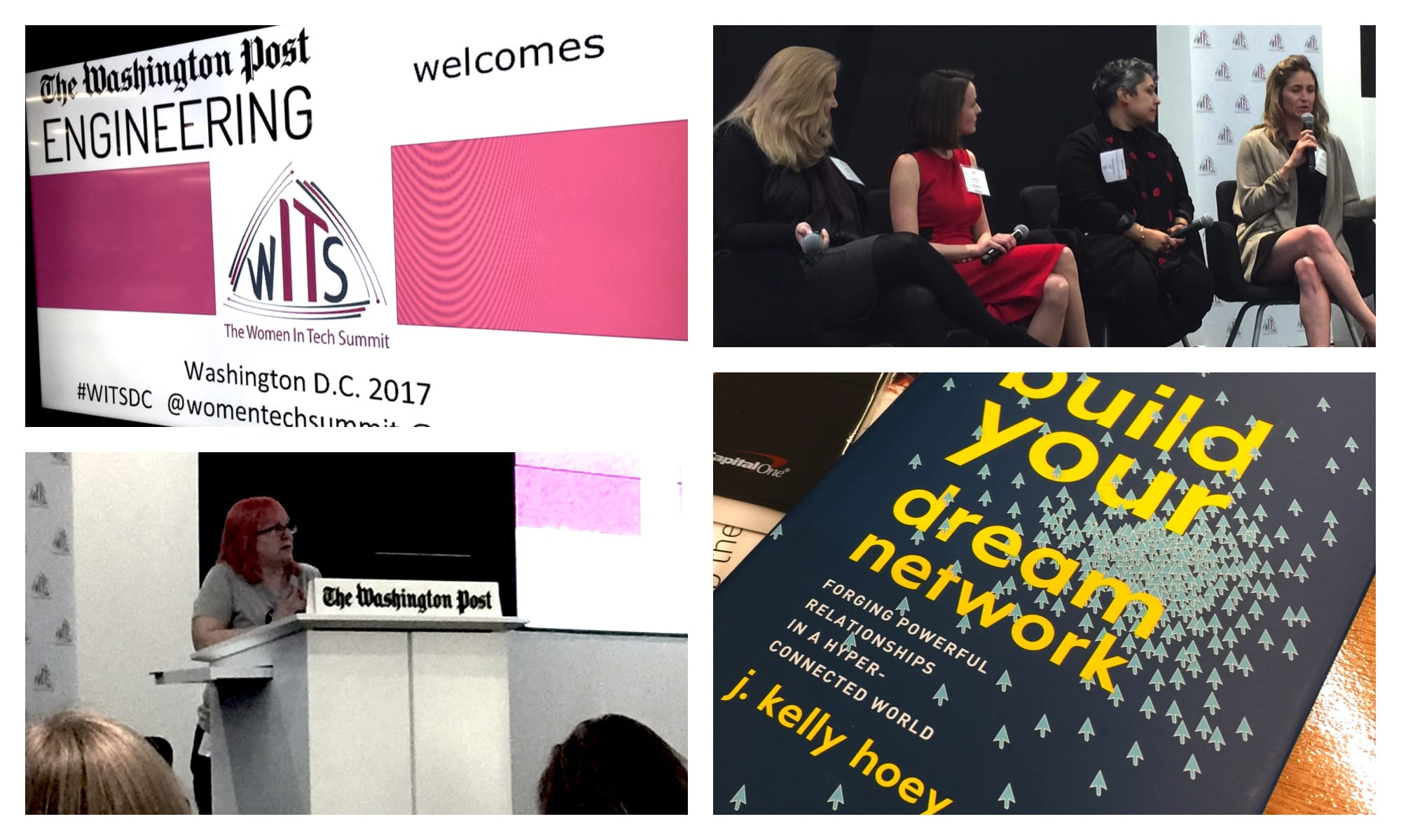 A collage of photos from the Women in Tech Summit DC