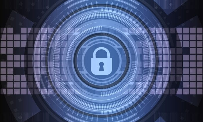 Abstract image representing online security